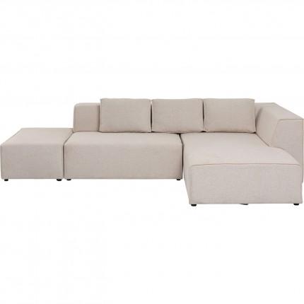 Canapé d'angle Infinity Ottomane droite crème Kare Design