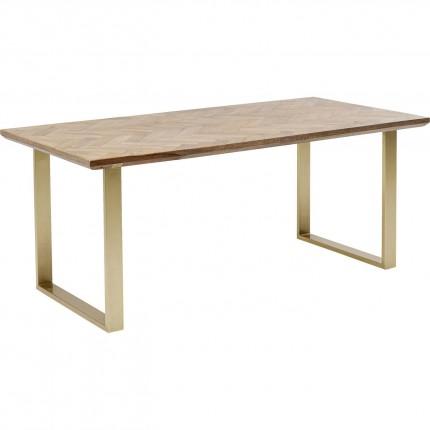 Table Parquet 180x90cm laiton Kare Design