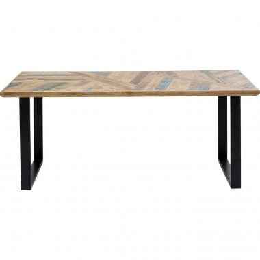 Table Abstract noire 180x90cm Kare Design