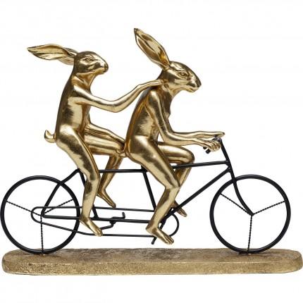 Déco tandem lapins dorés Kare Design