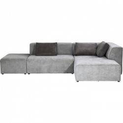 Canapé d'angle Infinity droite gris Kare Design