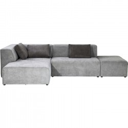 Canapé Infinity Antique Ottoman gauche gris Kare Design