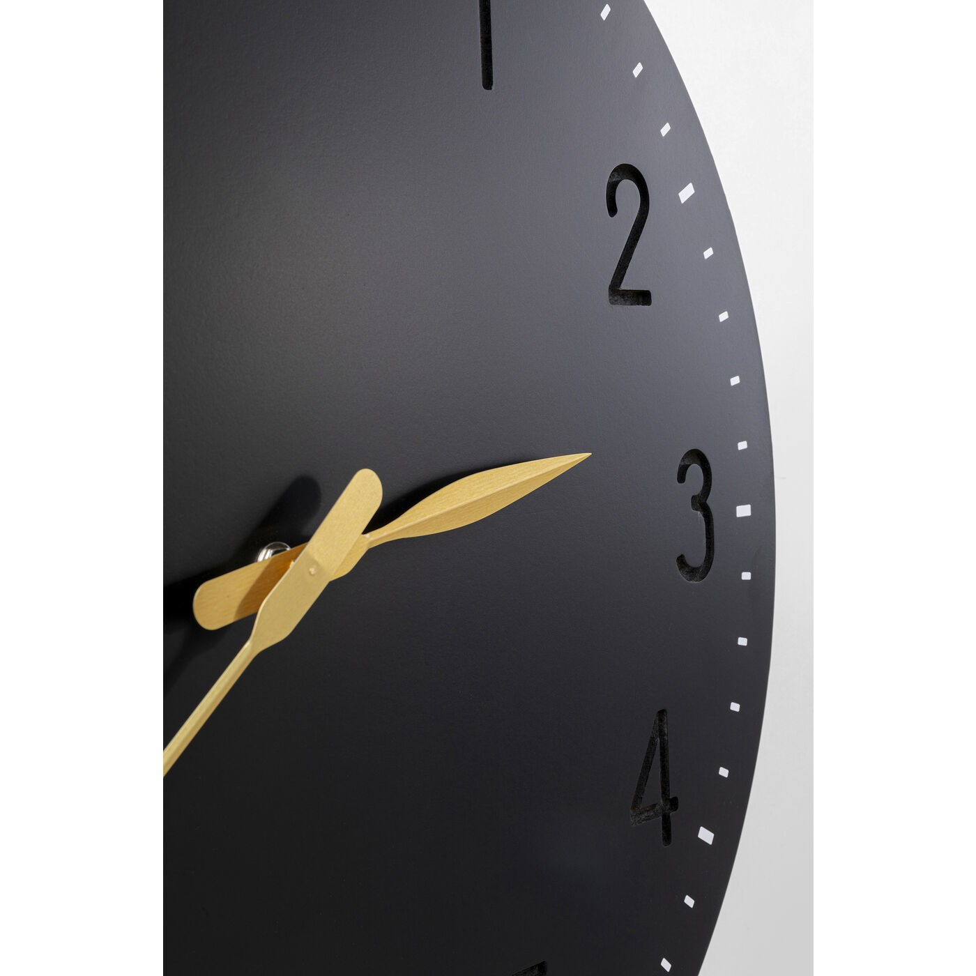 Horloge murale Mailo 50cm noire Kare Design