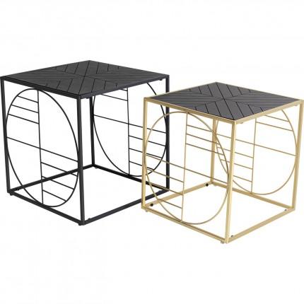 Tables basses Techno set de 2 Kare Design
