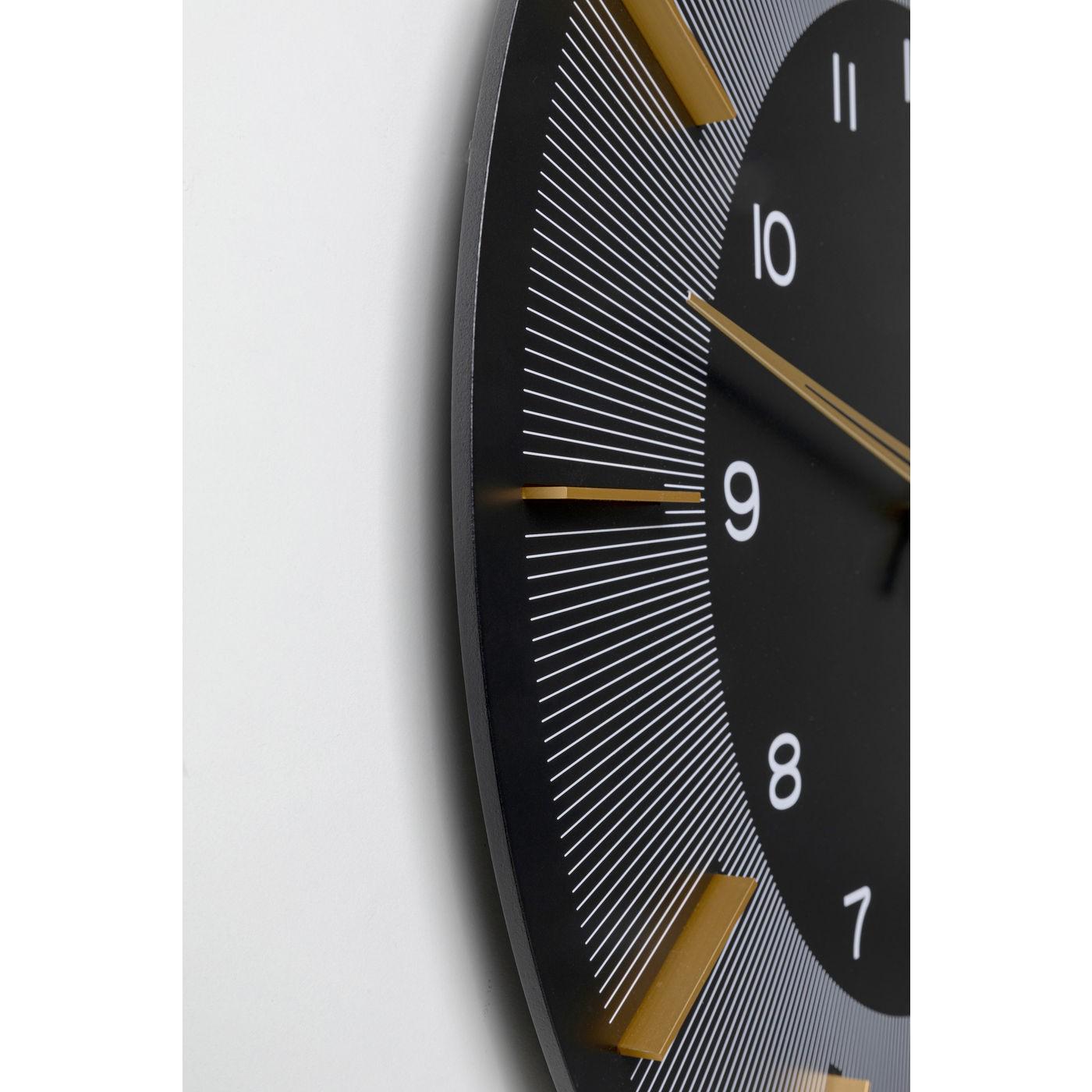 Horloge murale Lio 60cm noire Kare Design