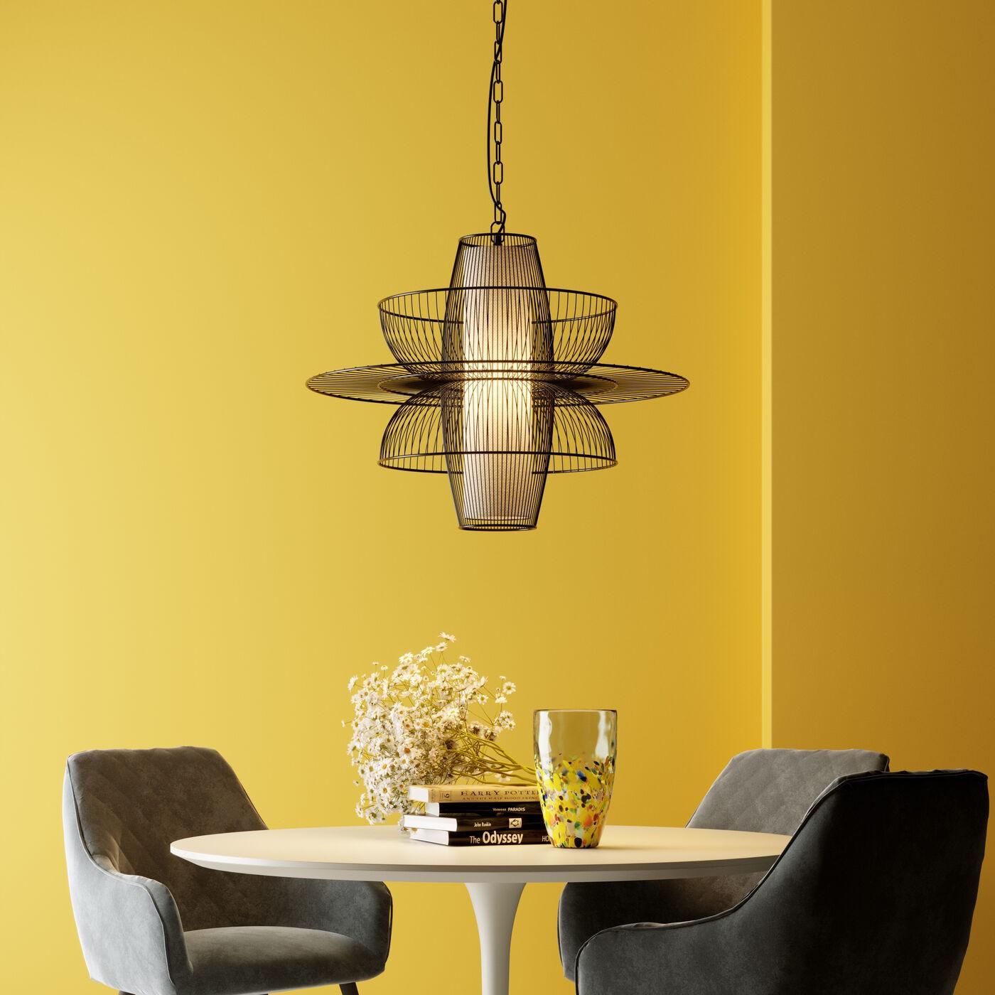 Table Invitation chêne & blanche Kare Design Diamètre - 90cm