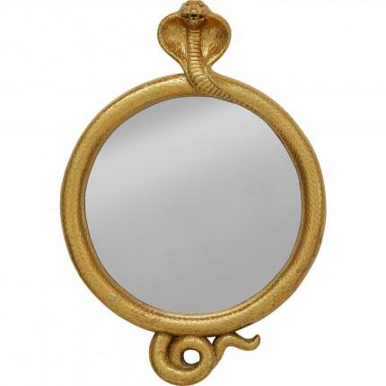 Miroir serpent cobra doré 32x23cm Kare Design