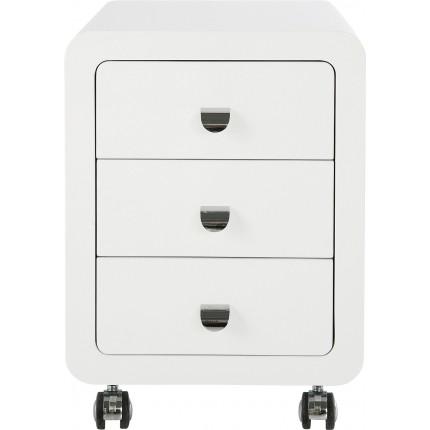 Caisson de bureau White Club 3 tiroirs Kare Design
