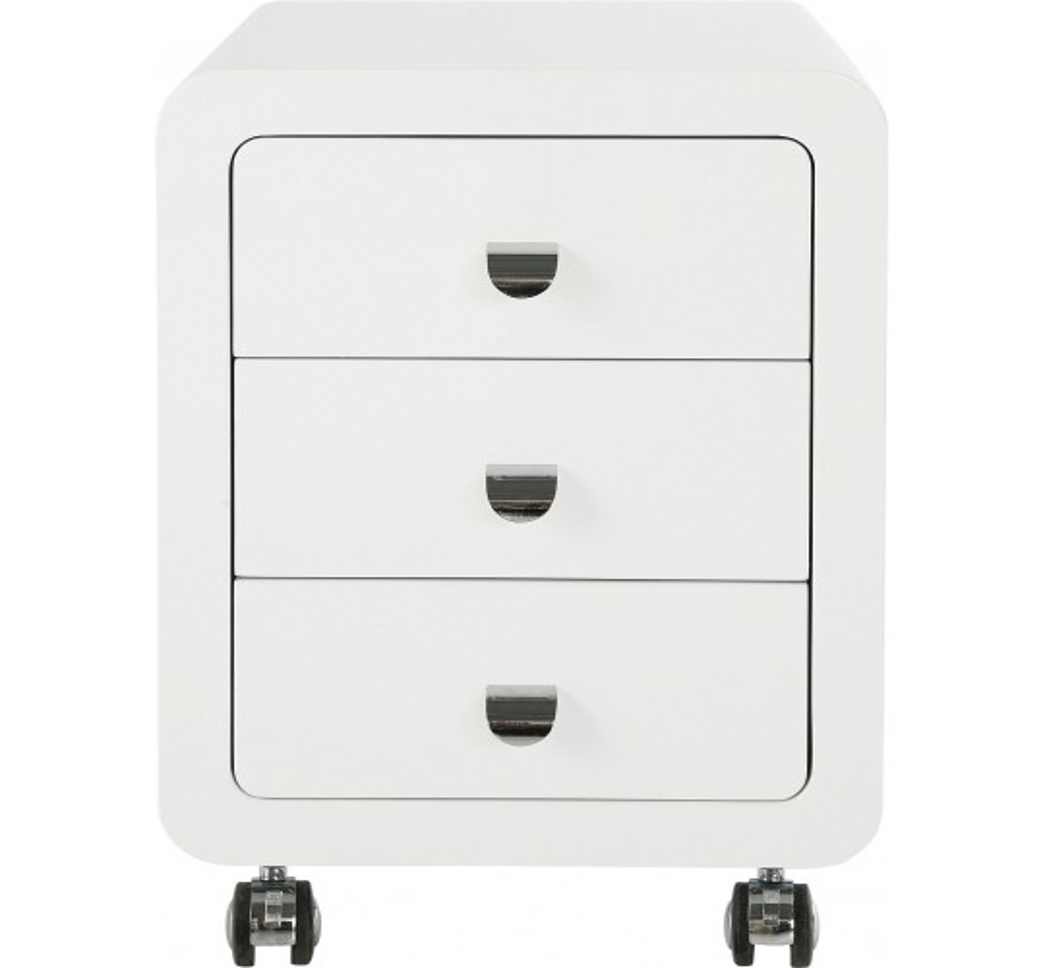 Caisson White Club 3 tiroirs Kare Design