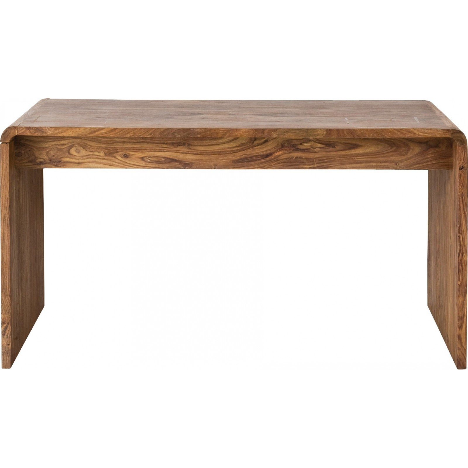 Bureau contemporain en bois authentico club kare design for Table bureau design