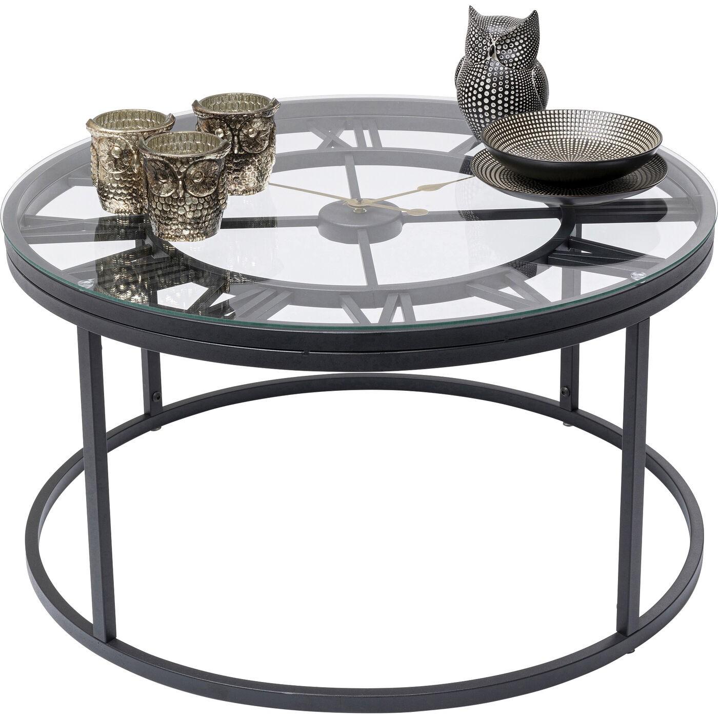 Table basse Roman 76cm noire Kare Design