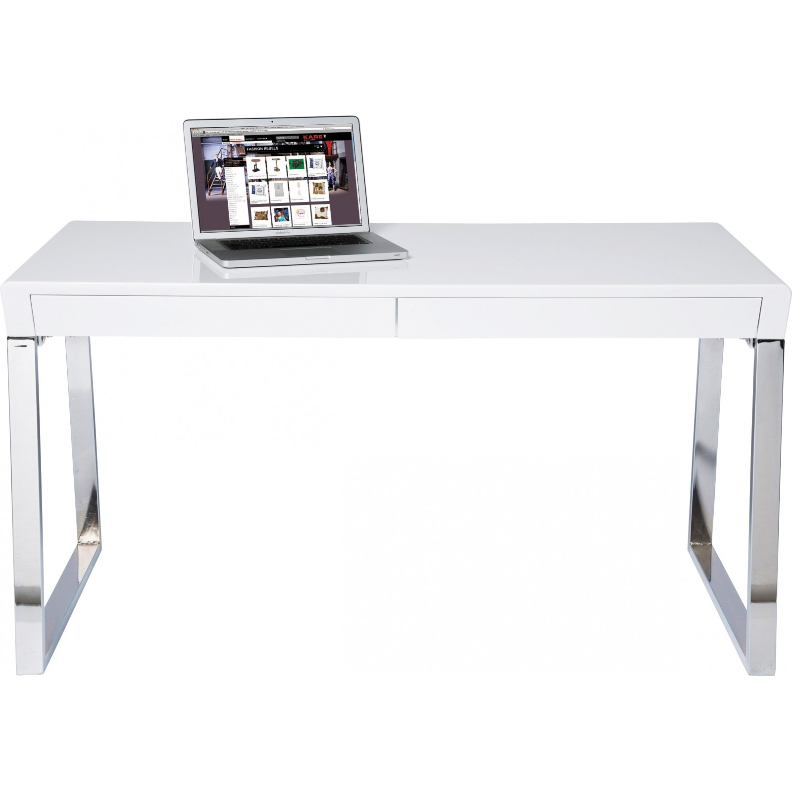 Bureau moderne blanc solution kare design for Bureau 70 x 50