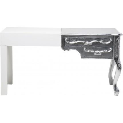 Bureau blanc & argenté Janus Kare Design