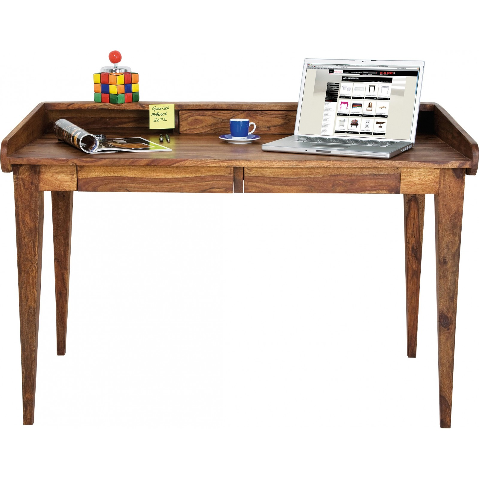 Bureau rustique bois authentico lady kare design - Bureau secretaire design ...