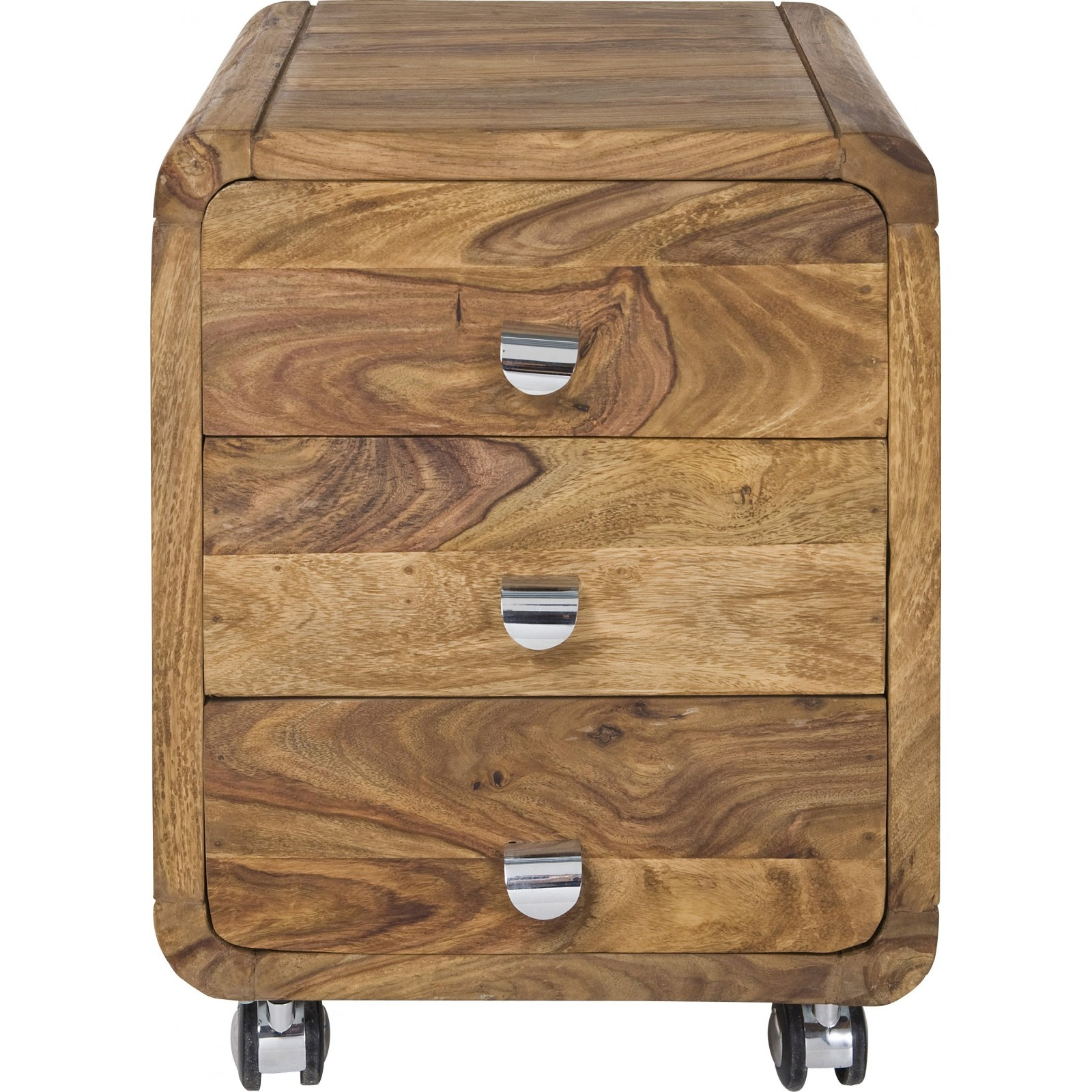 Caisson de bureau contemporain bois authentico kare for Meuble de bureau a tiroir