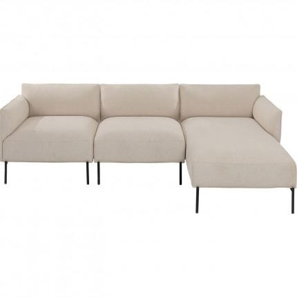 Canapé d'angle droit Chiara crème 226cm Kare Design