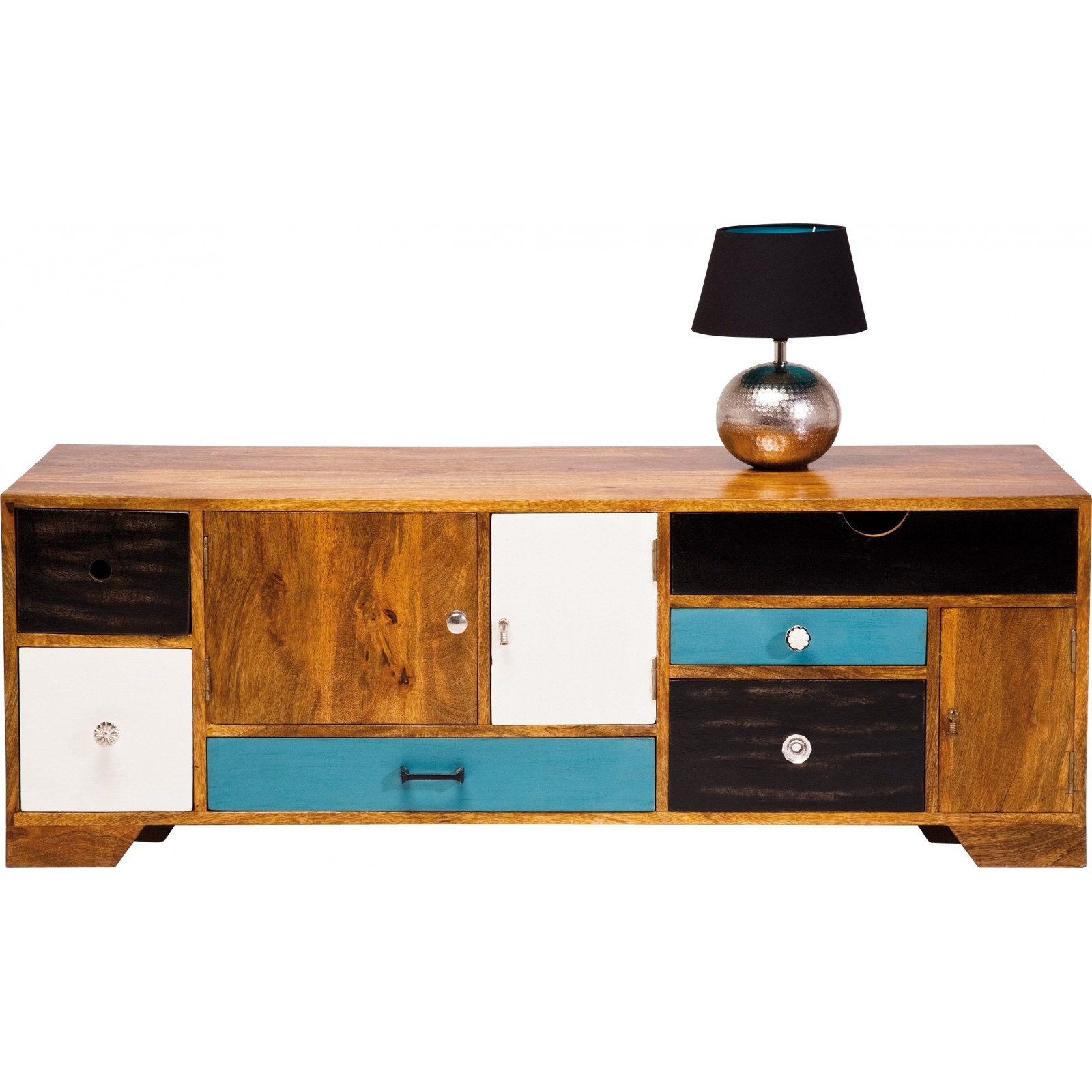 meuble tv en bois babalou 130x50 cm kare design. Black Bedroom Furniture Sets. Home Design Ideas