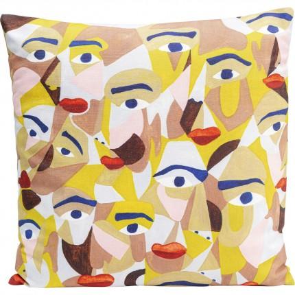 Coussin visages Artistic 45x45cm Kare Design