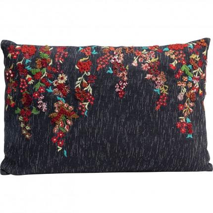 Coussin fleurs brodées 60x40cm Kare Design