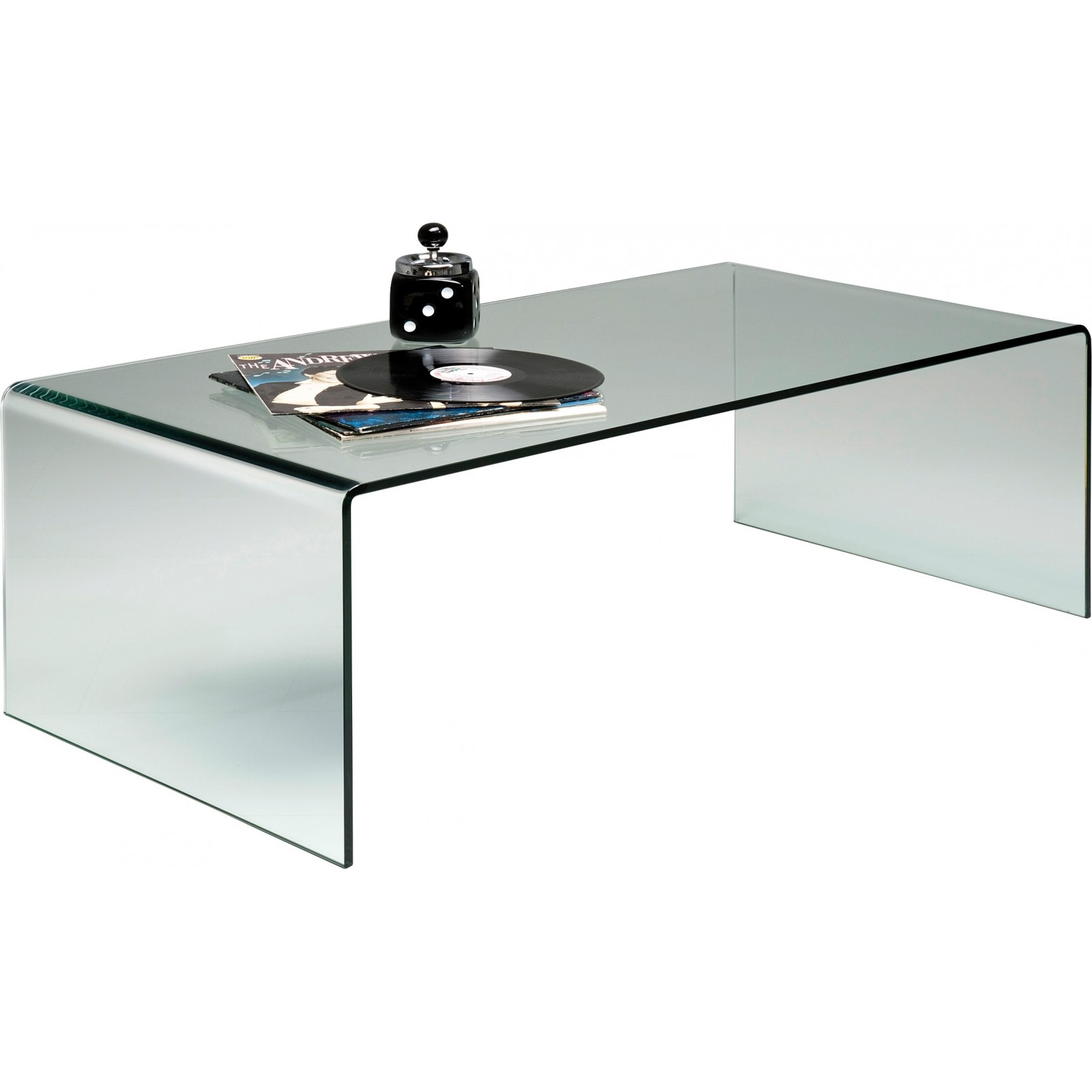 table basse contemporaine en verre clear club kare design. Black Bedroom Furniture Sets. Home Design Ideas