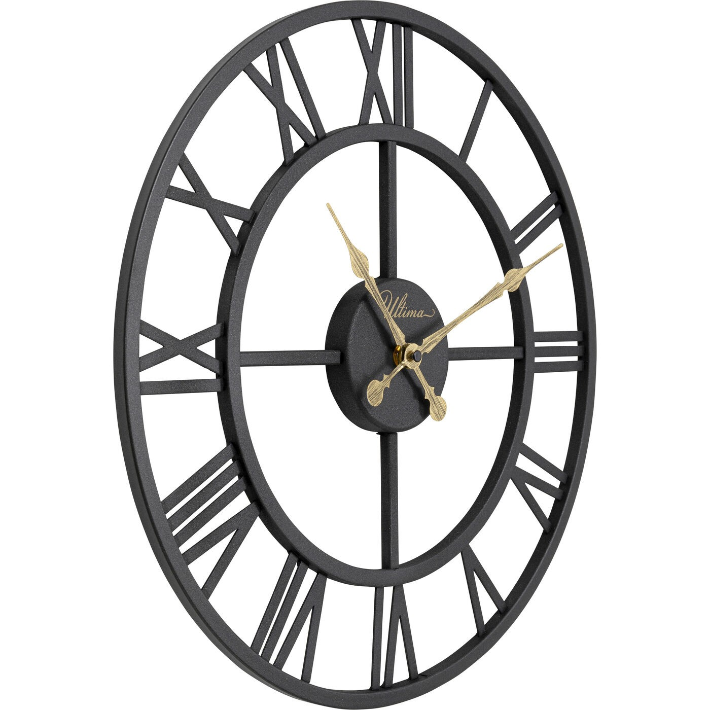 Horloge murale Roman 41cm noire Kare Design