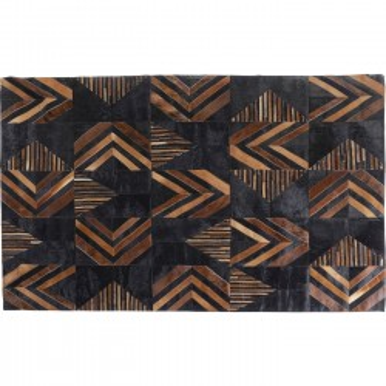 Tapis en cuir Puzzle 170x240cm Kare Design