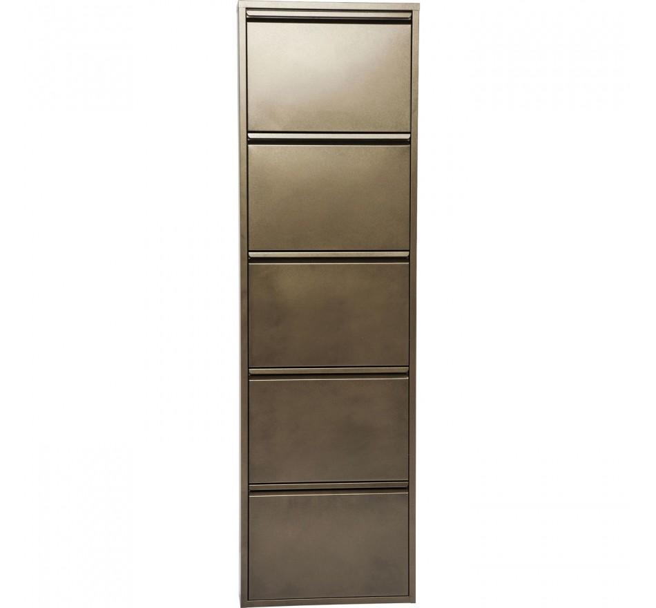 Casier à Chaussure Caruso 5 bronze Kare Design