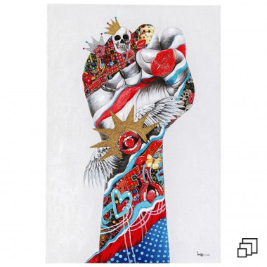 Tableau Touched Fight For 80x120cm Kare Design