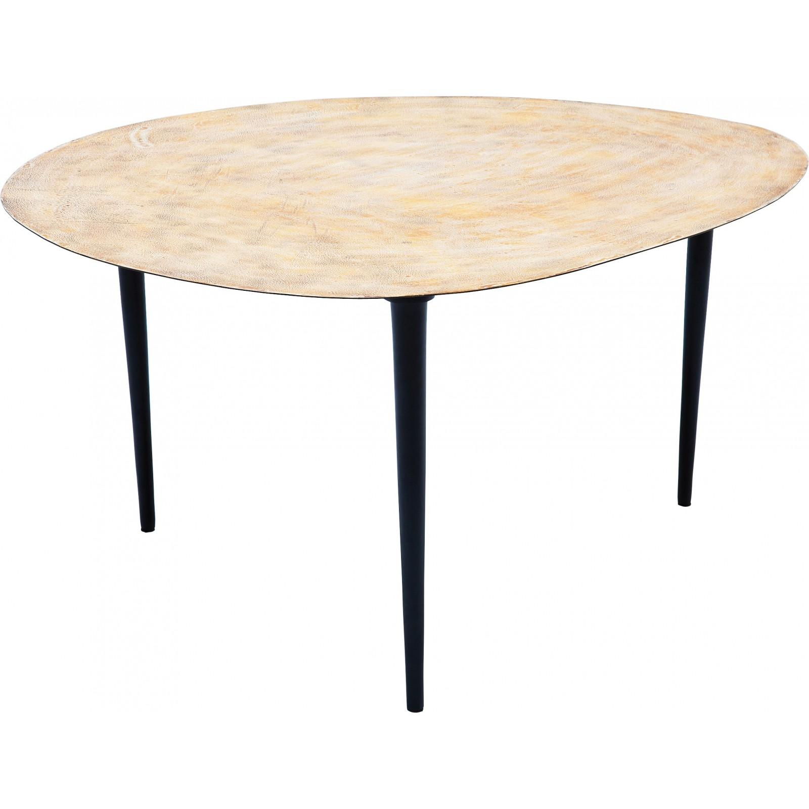 Table de salon egg gold 66x74cm kare design for Table de salon