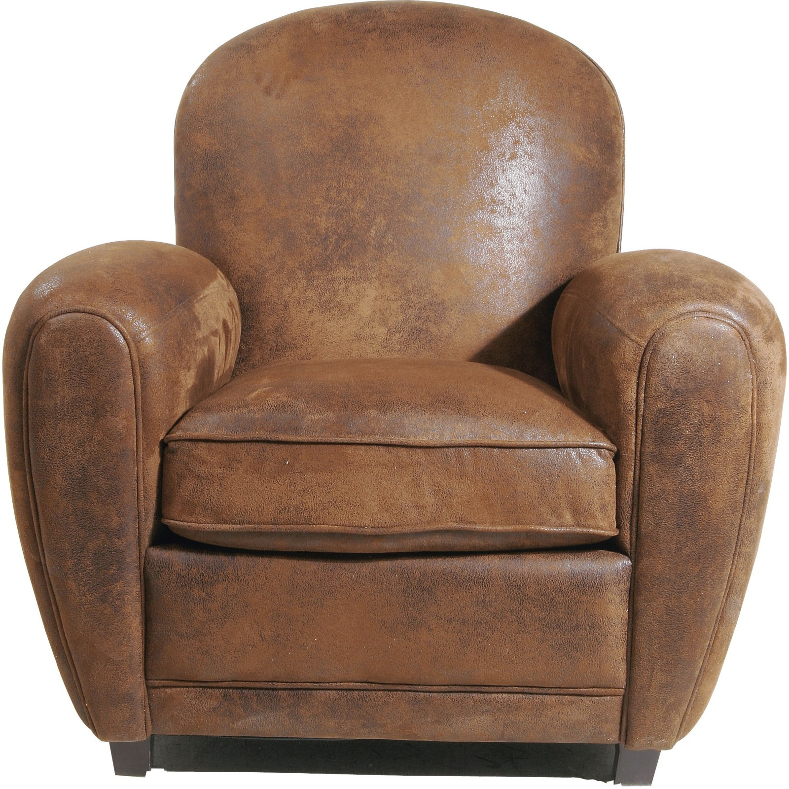 fauteuil club vintage marron round kare design. Black Bedroom Furniture Sets. Home Design Ideas