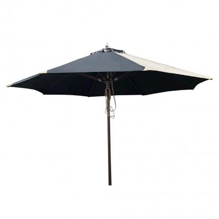 Parasol en bois 350cm noir Gescova