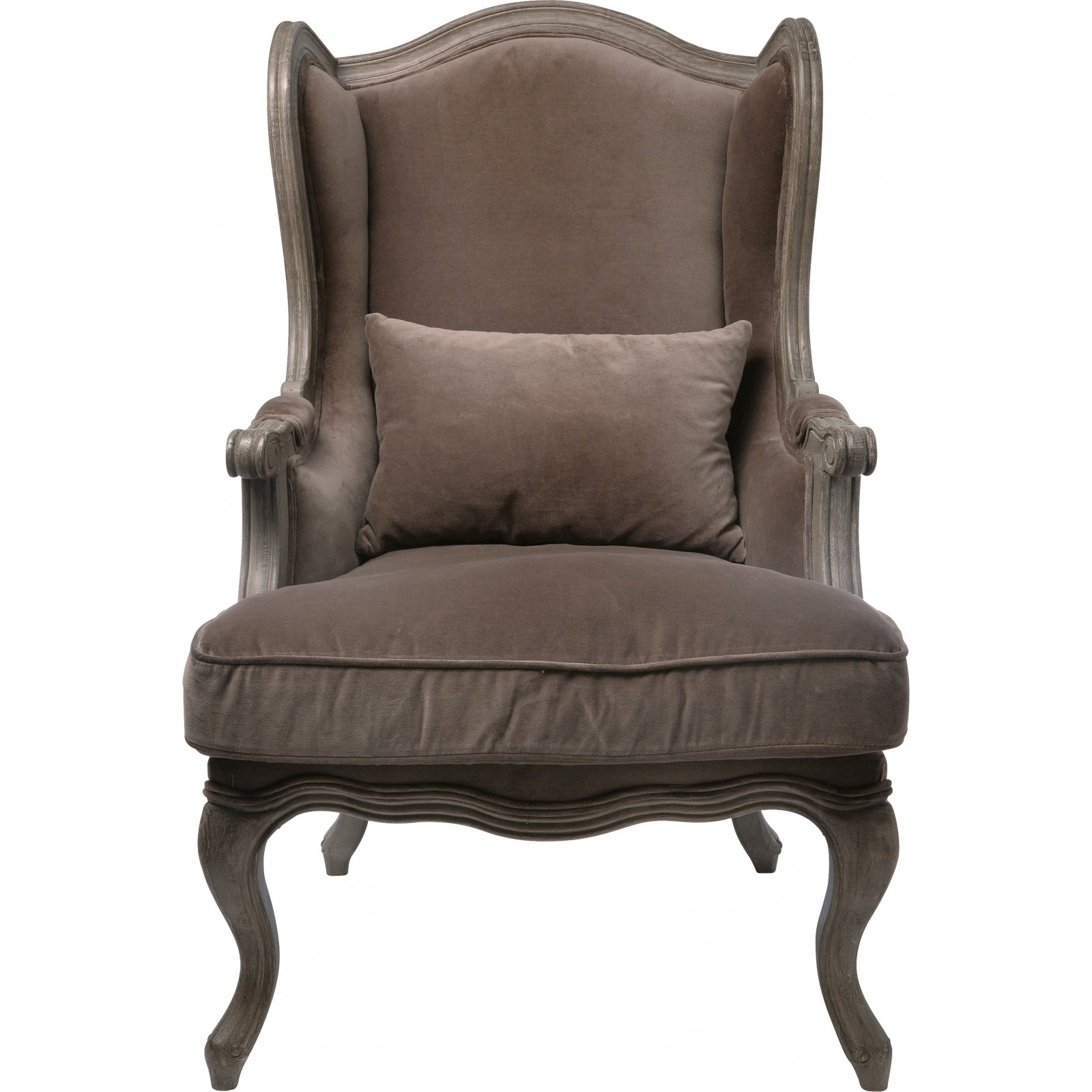 fauteuil oreilles louis xv marron villa grandfather. Black Bedroom Furniture Sets. Home Design Ideas