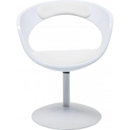 Chaise de bureau pitovante Retro Easy blanche Kare Design
