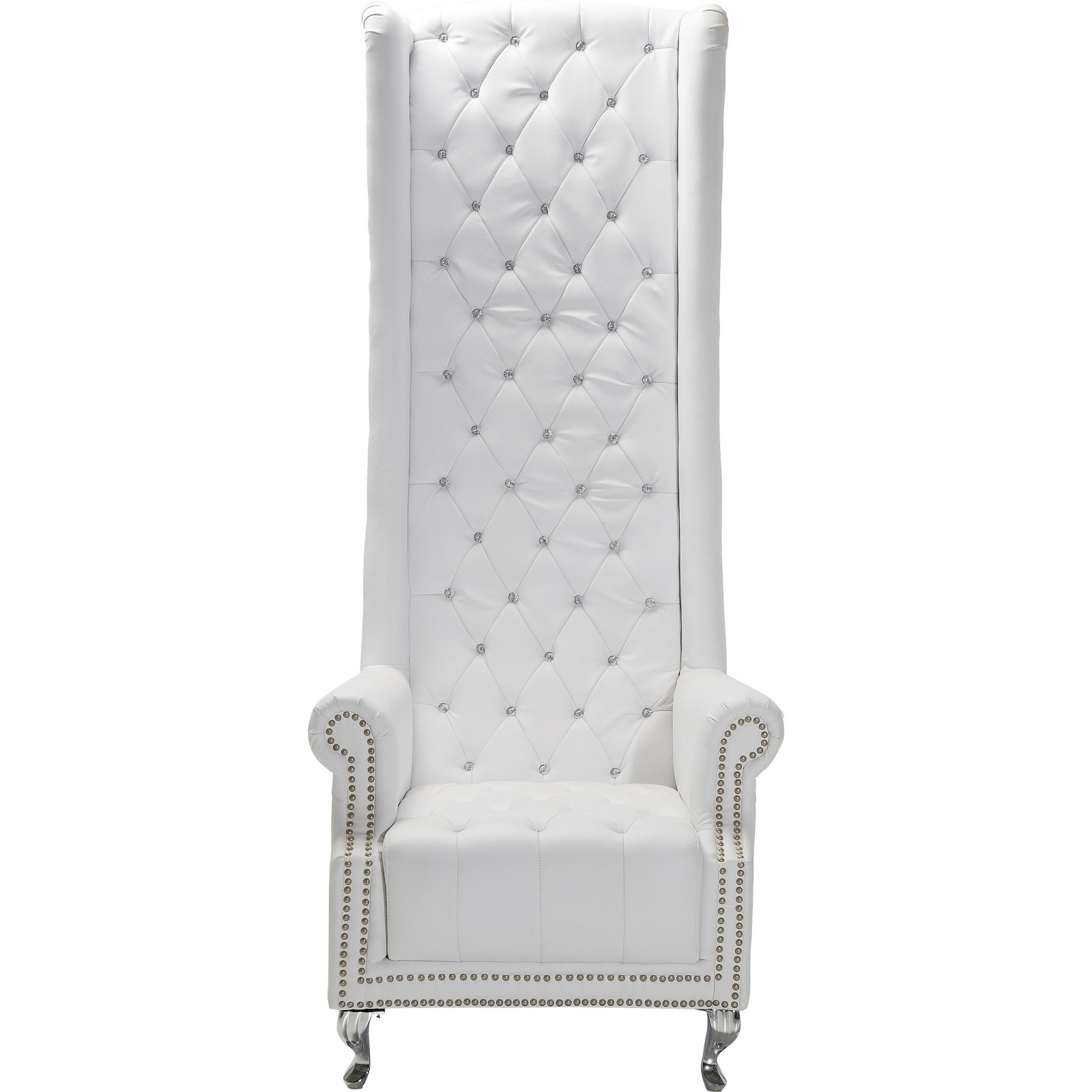 fauteuil a haut dossier baroque blanc queen kare design. Black Bedroom Furniture Sets. Home Design Ideas