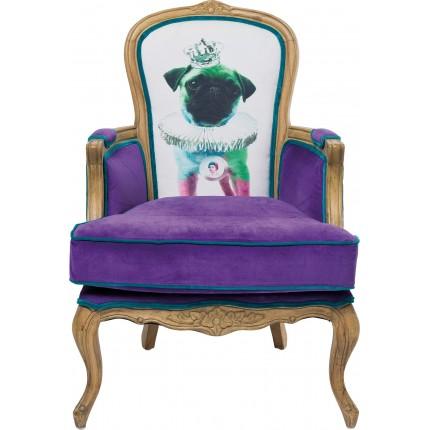 Fauteuil baroque Villa Grandfather Mops Violet Kare Design