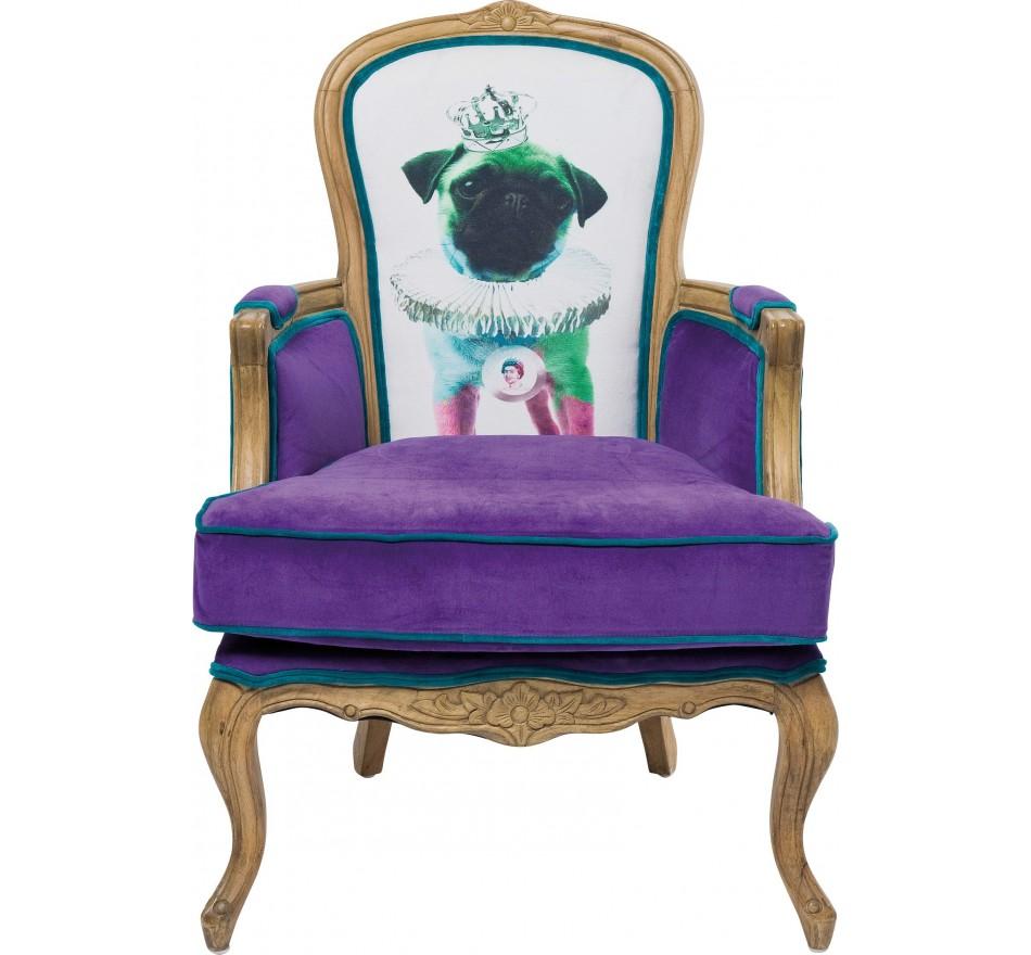 Fauteuil Villa Grandfather Mops Violet Kare Design