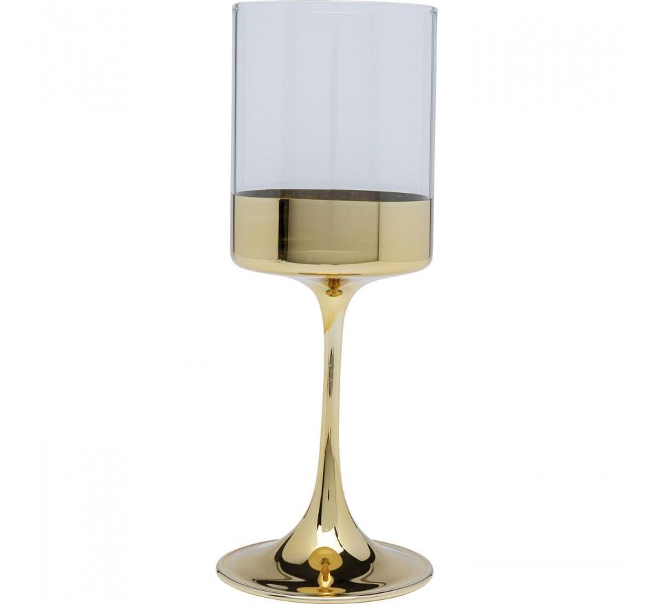 Verres à vin Electra dorés set de 4 Kare Design