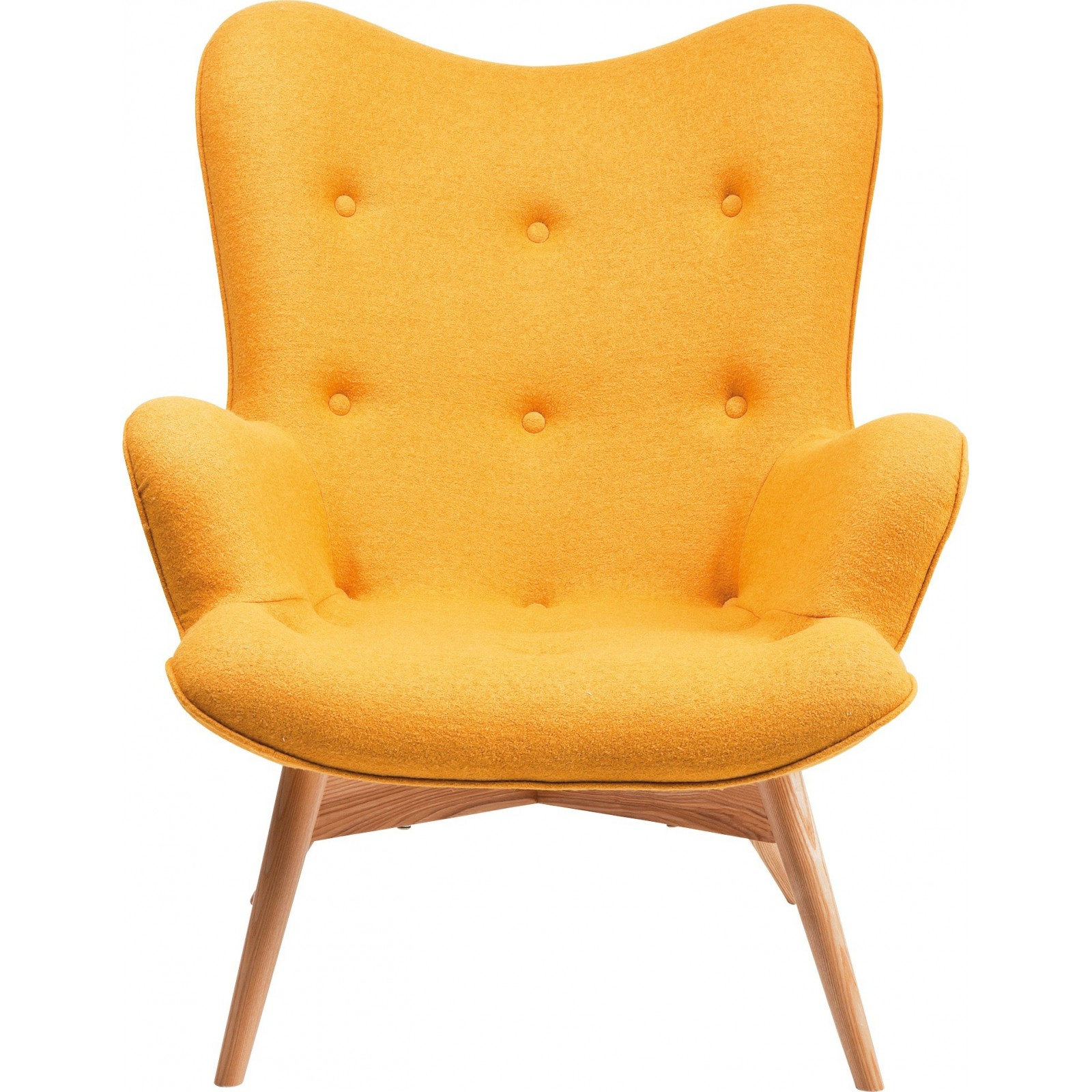 Fauteuil Scandinave Jaune Angels Wings Kare Design