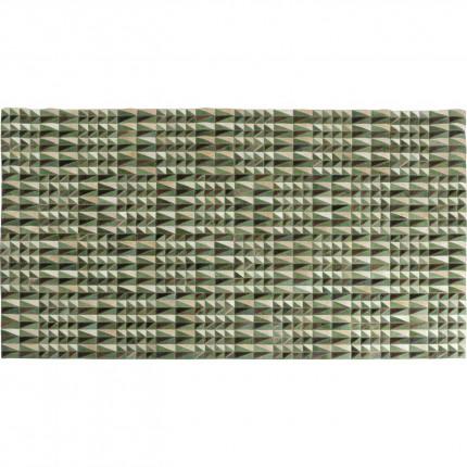 Tapis Zigzag 240x170cm vert et marron Kare Design