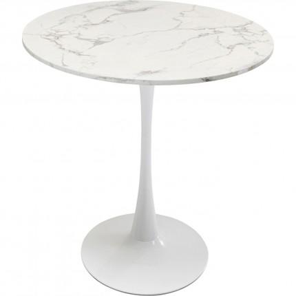Table Schickeria marbre blanc 80cm Kare Design