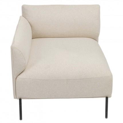 Assise gauche d'angle canapé Chiara crème Kare Design