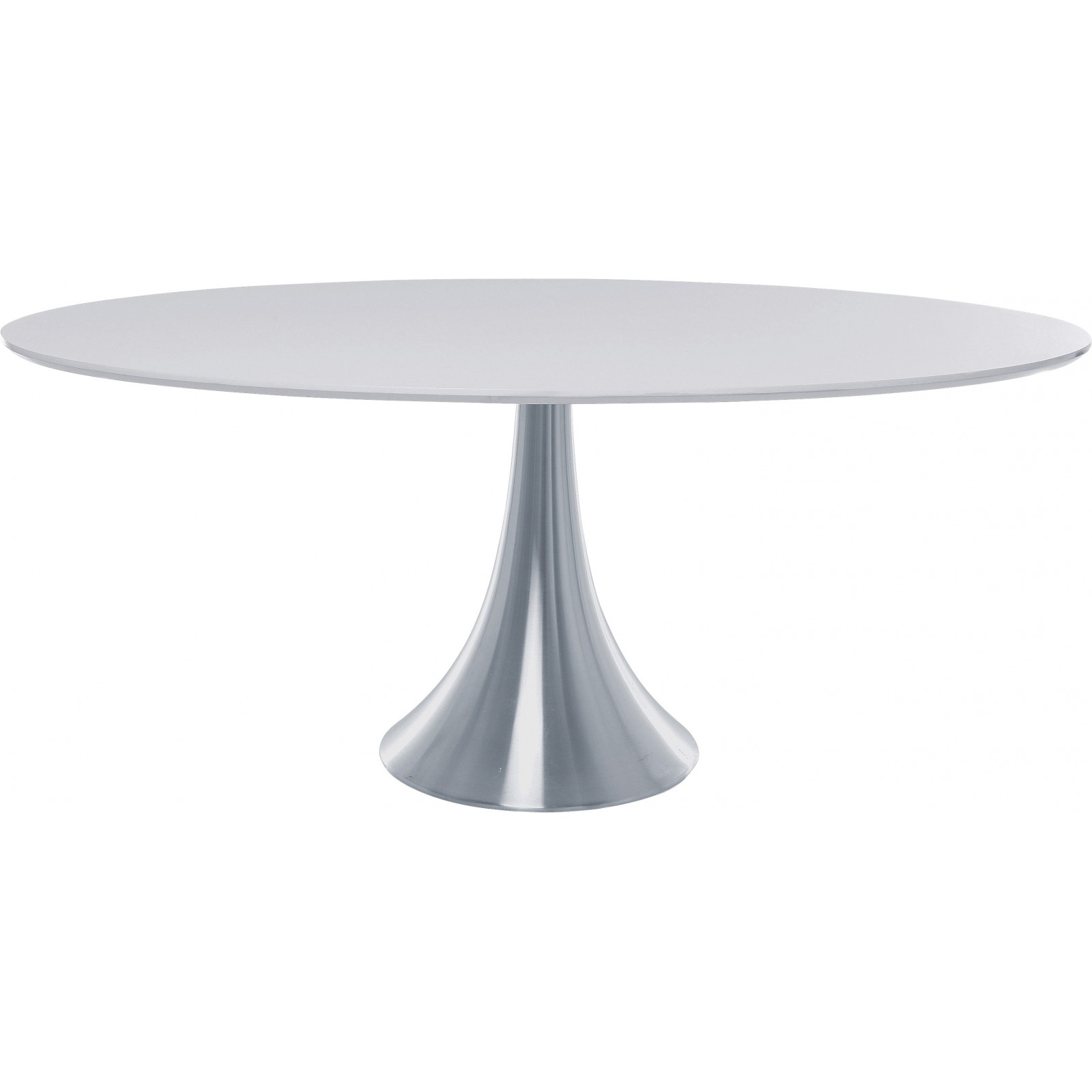Table ovale blanche for Table ovale extensible pas cher