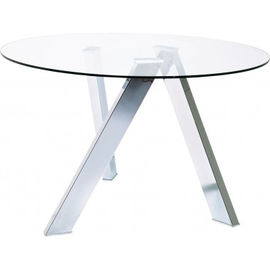 Table ronde en verre Mikado 120cm Kare Design