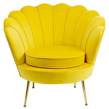 Fauteuil Water Lily jaune Kare Design