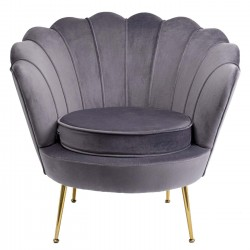 Fauteuil Water Lily gris Kare Design