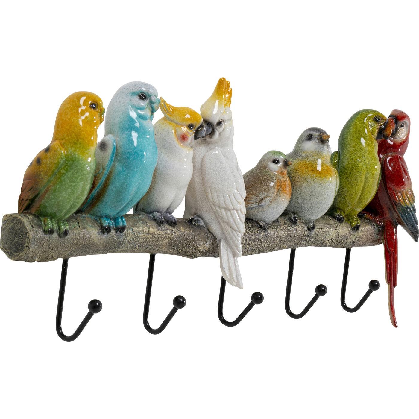 Portemanteau mural Oiseaux exotiques 39cm Kare Design