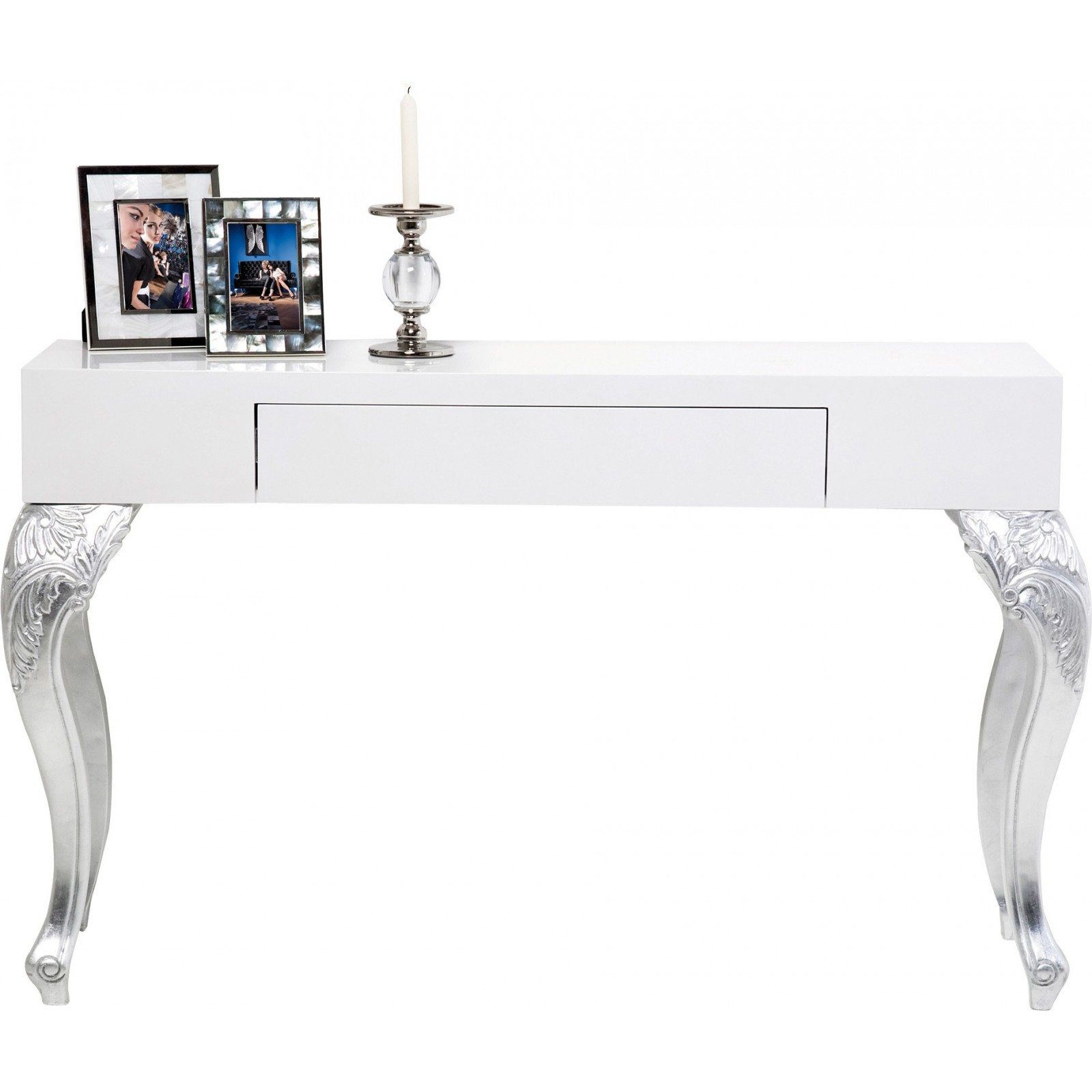 console baroque blanche janus kare design. Black Bedroom Furniture Sets. Home Design Ideas