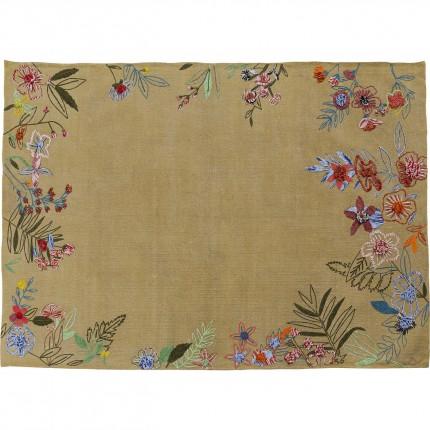 Tapis fleurs brodées 180x120cm Kare Design