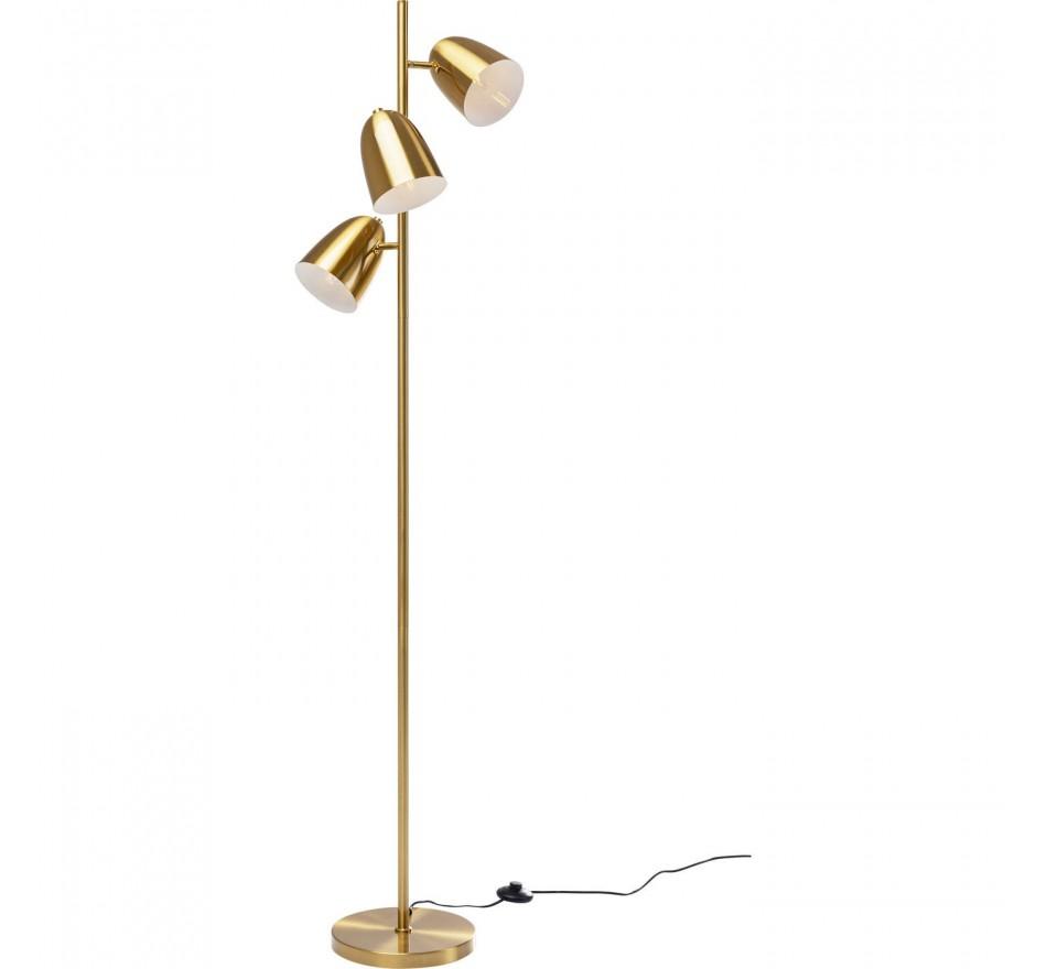 Lampadaire Triples doré 160cm Kare Design