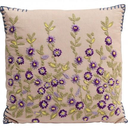 Coussin fleurs violettes Kare Design